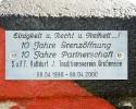 Schild am Grenzmahl