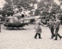 Der Hubschrauber landet